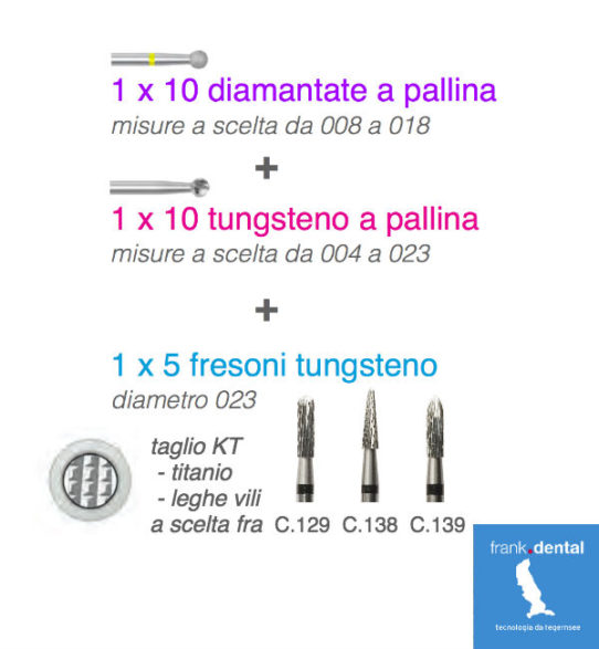 sconti frese laboratorio frank dental