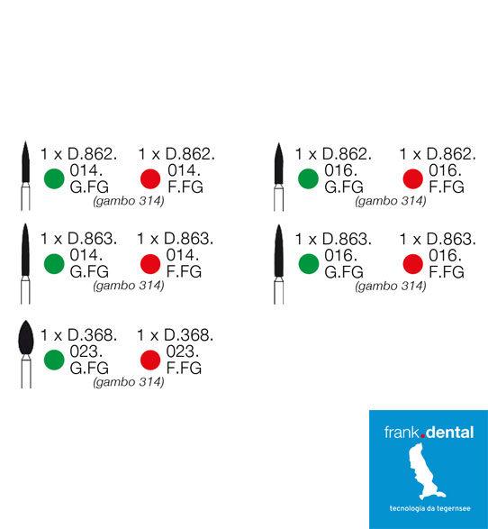 frese protesi preparazione verticale